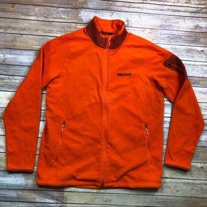 Marmot Reactor Orange Full Zip Polartec Fleece